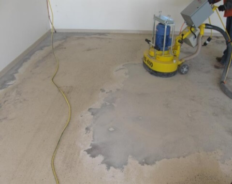 Epoxy Floor Coating Process - Ginding and Prep of floor
